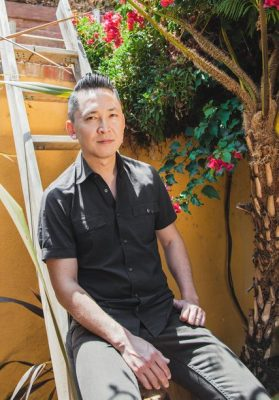 Image credits to Oriana Koren for The New York Times. The novelist and professor Viet Thanh Nguyen at his home in Los Angeles.