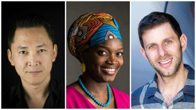 Image credits to AFP/Getty Images, John D. & Catherine T. MacArthur Foundation, Casey Kringlen. Writer Viet Thanh Nguyen, left, painter Njideka Akunyili Crosby and opera director Yuval Sharon have been named MacArthur fellows for 2017. Other winners include theater artist Taylor Mac, playwright Annie Baker and singer-songwriter Rhiannon Giddens.